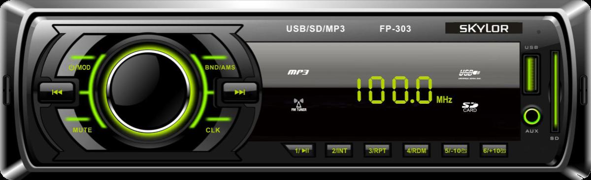 Магнитола Skylor FP-303G (FM/USB/SD/AUX, 2х40Вт)