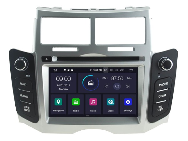 Штатная магнитола на Android W-5747 для Toyota Yaris II