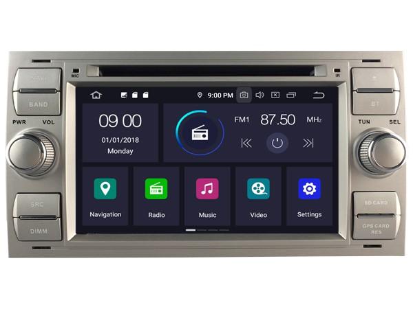 Штатная магнитола на Android W-5629 для Ford FOCUS II, C-MAX I, FIESTA V, FUSION I, GALAXY I-II, TRANSIT, KUGA I