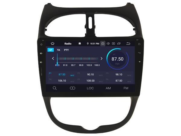 Штатная магнитола на Android W-5377 для Peugeot 206