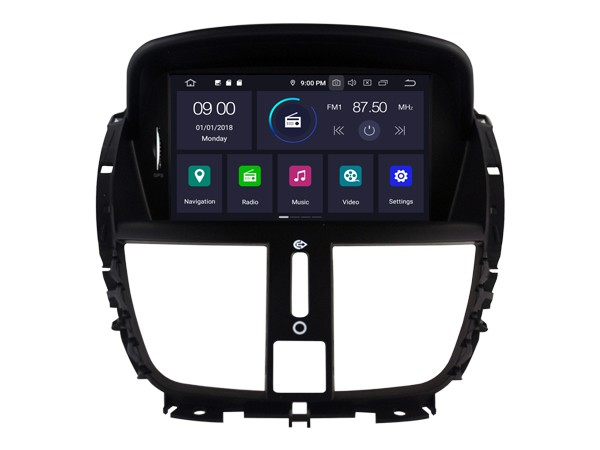 Штатная магнитола на Android W-5395 для Peugeot 207