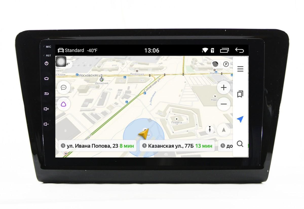 Штатная магнитола на Android MIBIV Skoda Rapid MQB Top 4G