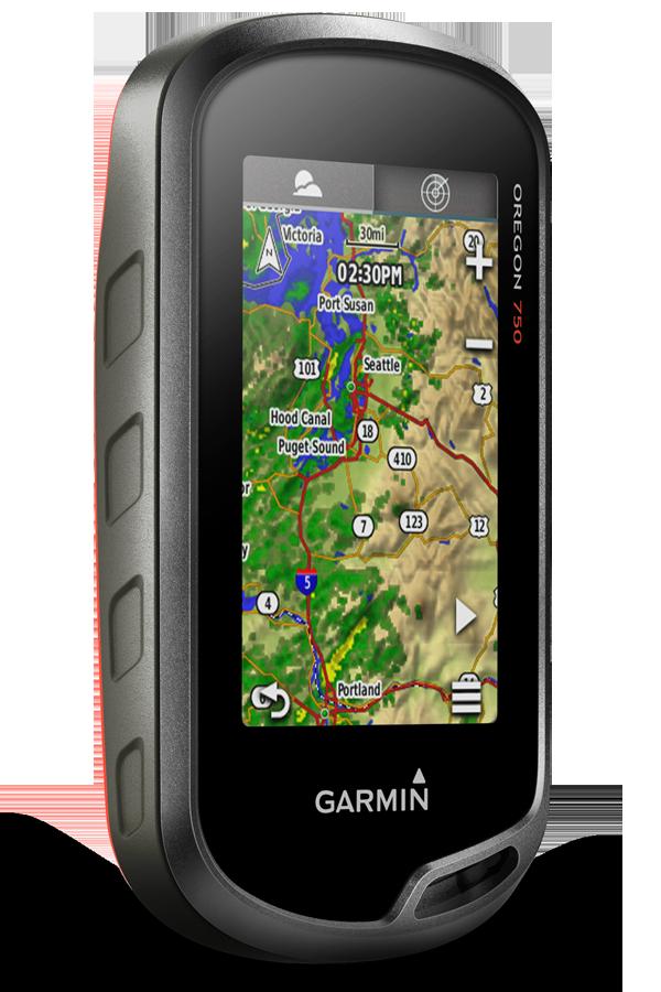Туристический навигатор Garmin Oregon 750t с картами России ТОПО 6