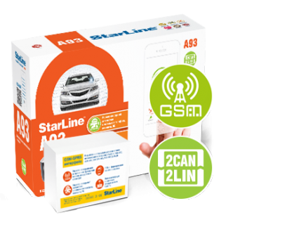 Автосигнализация StarLine A93 2CAN+2LIN GSM