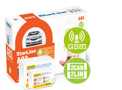 Автосигнализация StarLine A93 2CAN+2LIN GSM-GPS